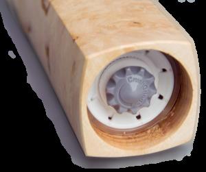 Woodandform Salz- und Pfeffermühle mit quadratischer Grundform