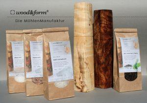 Woodandform Salz- und Pfeffer und edle Pfeffermühlen aus Holz