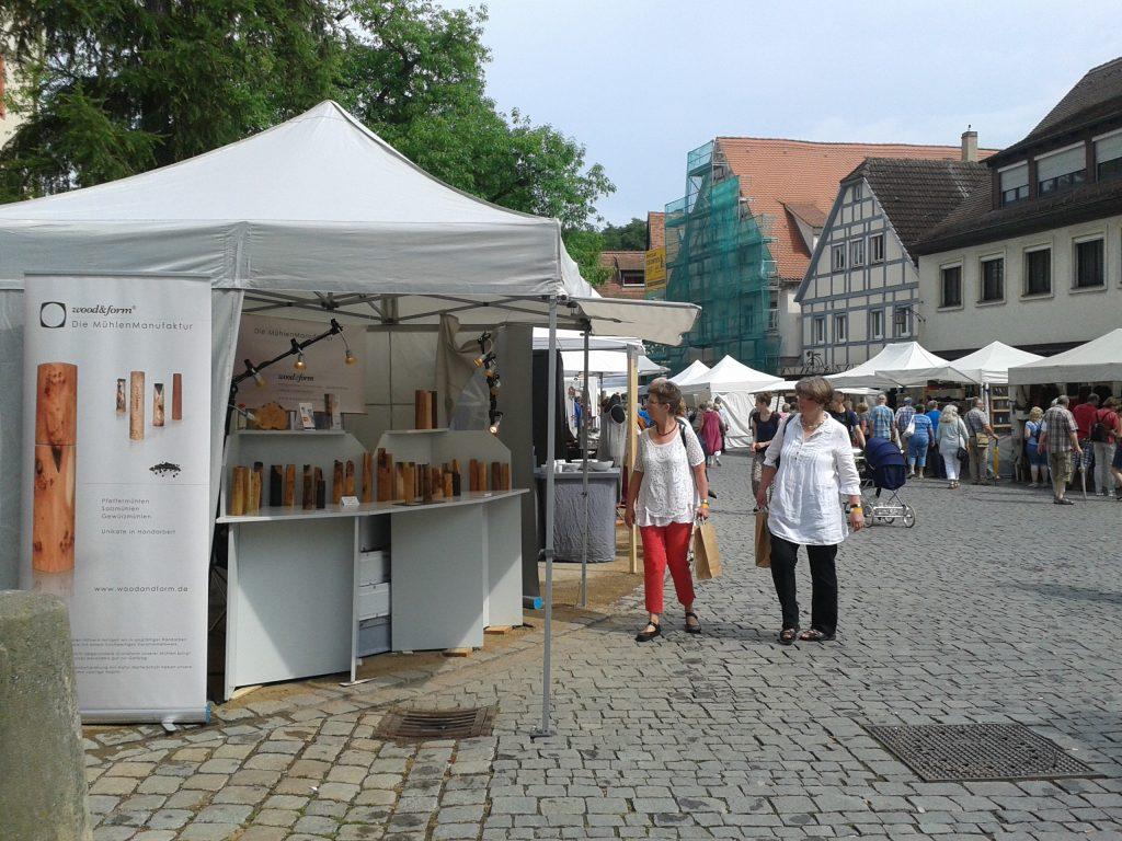 Woodandform Salz- und Pfeffermühlen auf dem Kunsthandwerkermarkt
