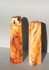 Woodandform Pfeffermühlen aus Eibenholz