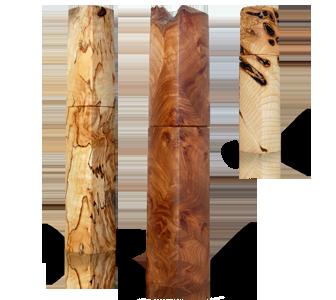 woodandform  Pfeffermühlen aus Ulme Maserholz
