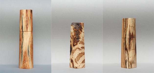 woodandform pfeffermühlen aus maserknollen