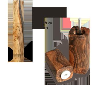 woodandform Pfeffermühle aus Holz - einfache Handhabung
