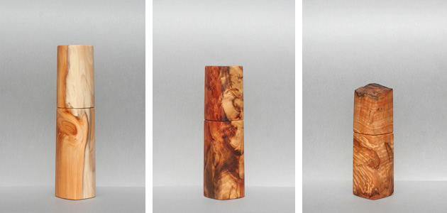 Eibenholz, Tigerholz und eine seltene Haselnus Maserknolle