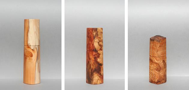 (Eibenholz, Tigerholz und eine seltene Haselnus Maserknolle