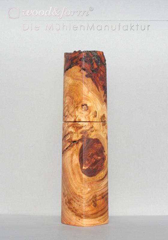 Woodandform Pfeffermühle Kirschholz Maserknolle