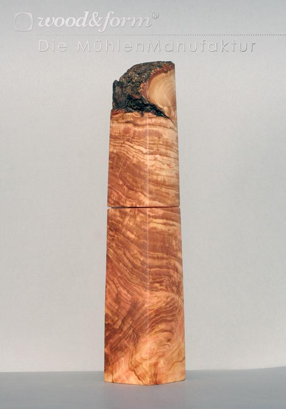 Woodandform Pfeffermühle Olivenholz Maserknolle