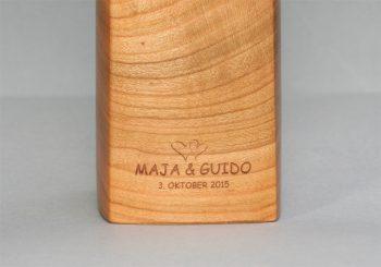 Woodandform Salz- und Pfeffermühle mit Gravur, Lasergravur, engraving