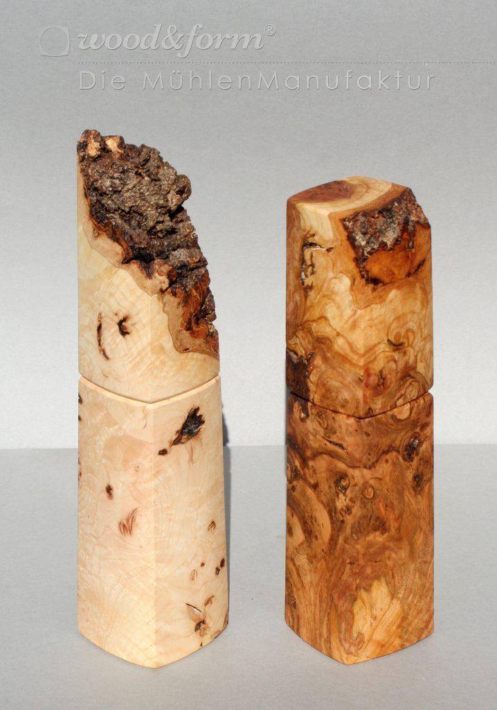 woodandform-esche-kirsche-maser Hochaufgelöste Fotos für Presse und Druck