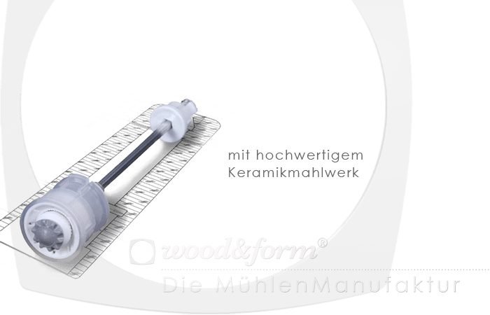 Woodandform Salz- und Pfeffermühlen – mit hochwertigem Keramikmahlwerk