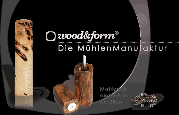 Woodandform Salz- und Pfeffermühlen – Keramikmahlwerk einfach zubefüllen