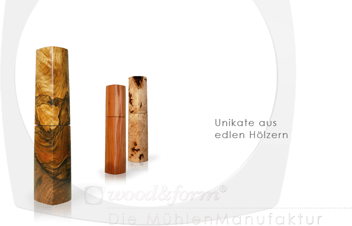 Woodandform Salz- und Pfeffermühlen – Unikate aus edlem Holz