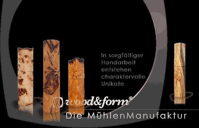 Woodandform Salz- und Pfeffermühlen – Unikate in Handarbeit