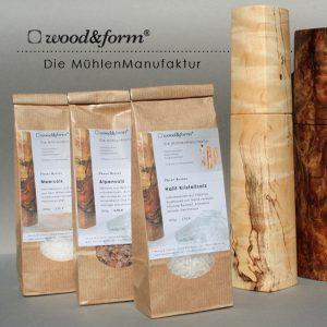 Woodandform Salz- und Pfeffer und weiteres Zubehör