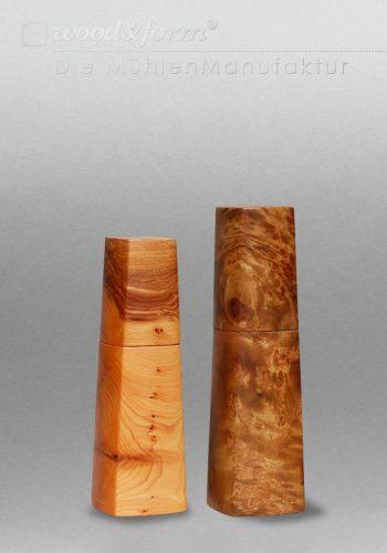 Holz Mühlen Set Keramikmahlwerk