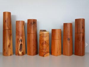 Woodandform Salz- und Pfeffermühlen aus Eibenholz