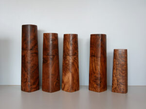 Woodandform Salz- und Pfeffermühlen aus Walnuss-Holz