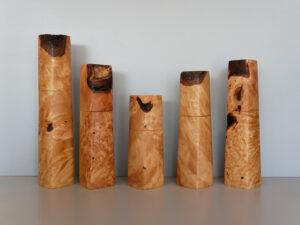 Woodandform Salz- und Pfeffermühlen aus Birke Maserknollen