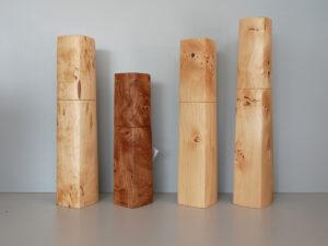 Woodandform Salz- und Pfeffermühlen aus Birke und Ulme