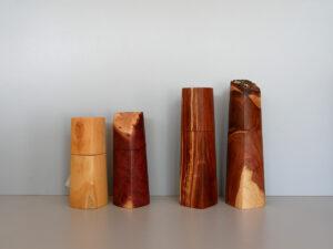 Woodandform Salz- und Pfeffermühlen aus Buchsbaum, Goldfield, Zwetzschge